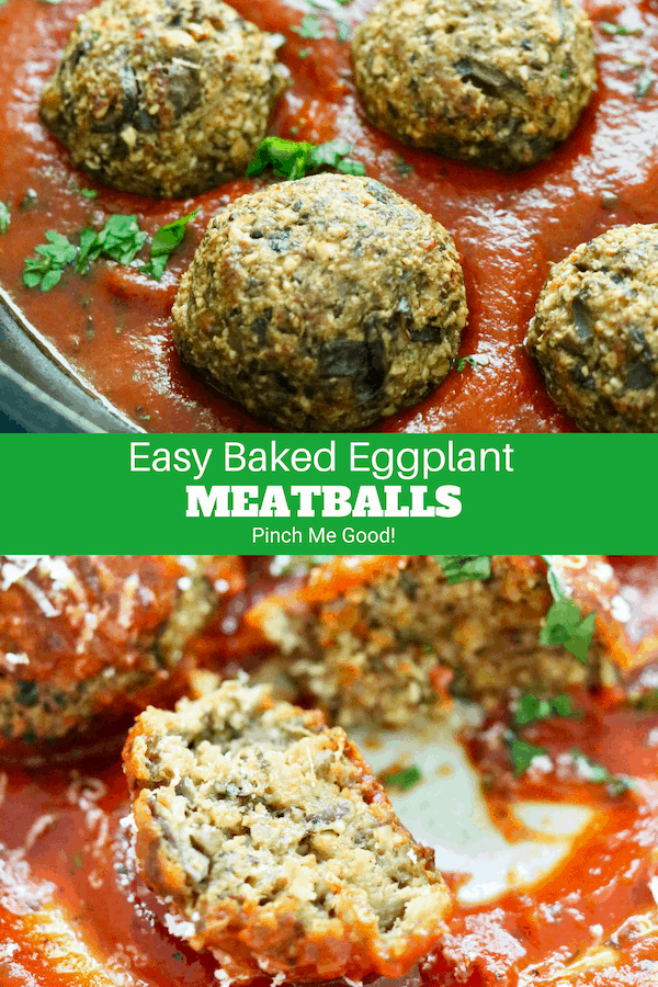 Easy Baked  Eggplant Meatballs - Vegetarian