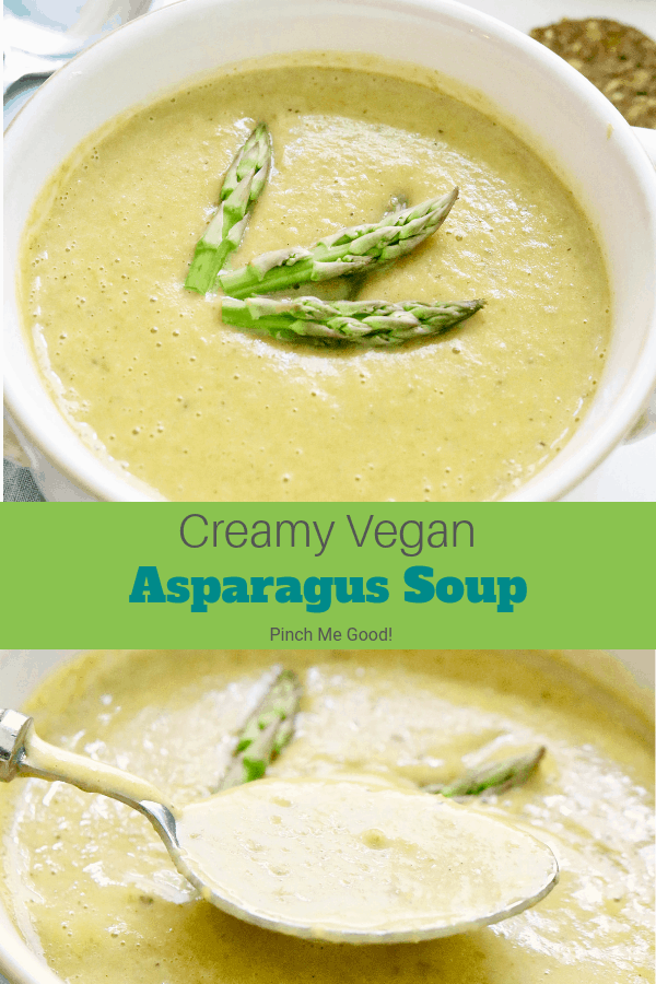 Creamy Vegan Asparagus Soup