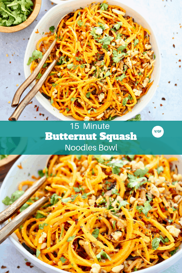 15 Minute Butternut Squash Noodles Bowl