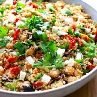 Roasted Mediterranean Cauliflower Rice