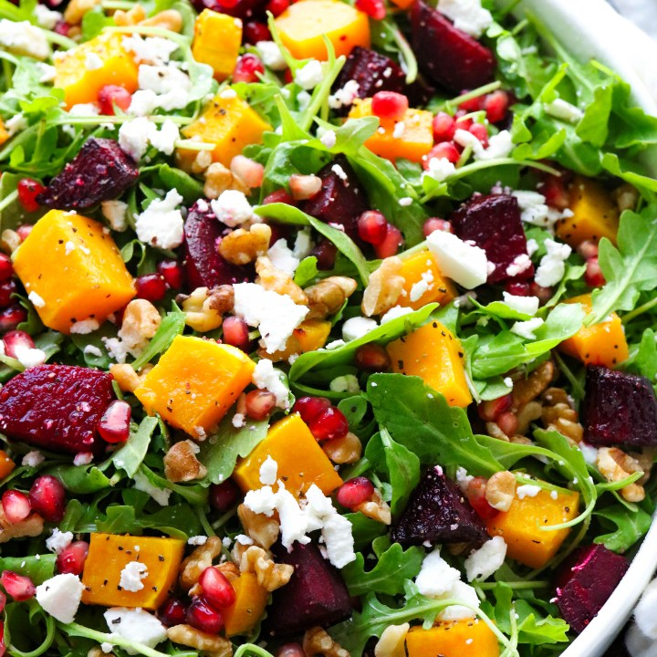 Roasted Beets and Butternut Squash Salad
