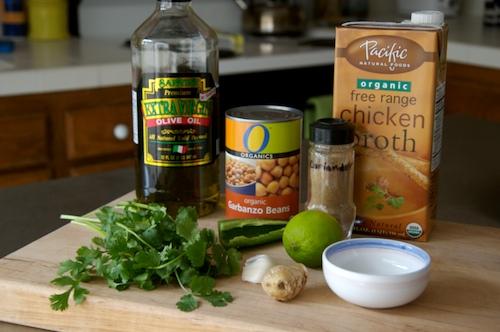 Ingredients for Garbanzo Bean Soup