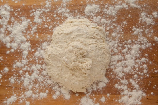Bread Dough on Floured Board