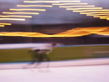 Ice skating in Amsterdam, Holland. By Marianina