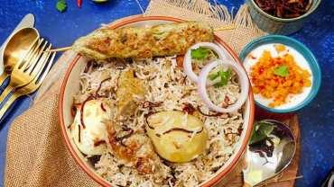 Chicken Malai Seekh Kebab Biryani