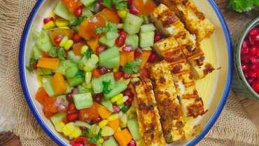 Paneer Tikka Kachumber Salad