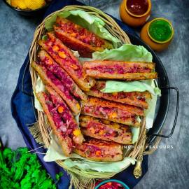 Savory French Toast | Pudla Sandwich