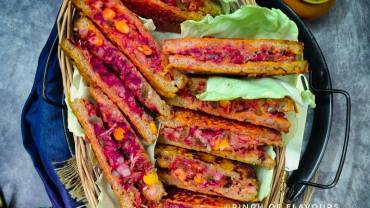 Savory French Toast | Pudla Sandwich | French toast breakfast