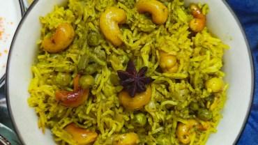 Instant Pot Mint Rice (Pudina Pulao)