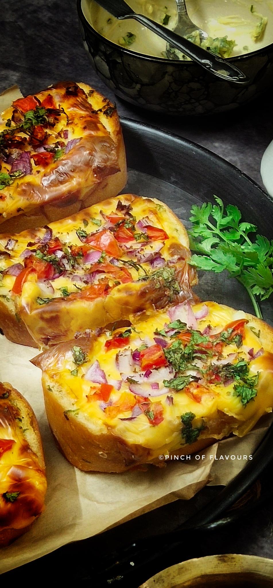 Air Fryer Tomato Onion Cheese Bruschetta
