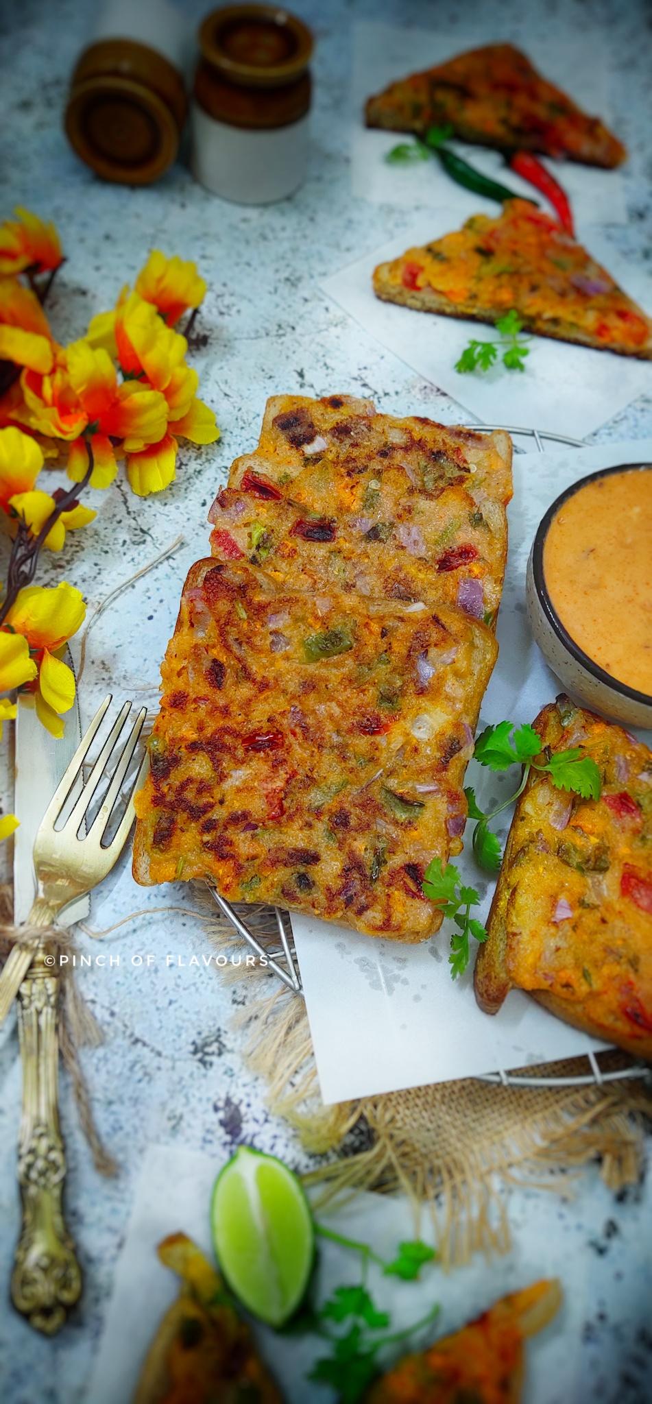 Rava Toast (sooji toast) Recipe