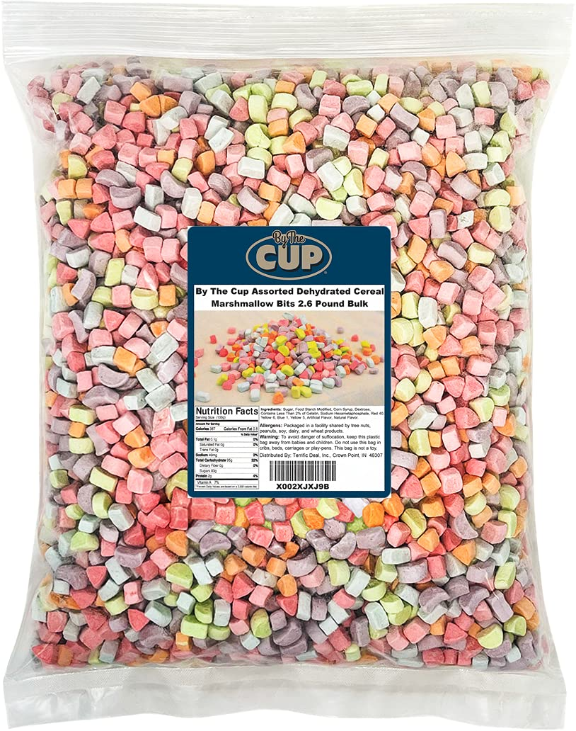 By The Cup Assorted Dehydrated Cereal Marshmallow Bits