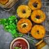 Stuffed onion rings recipe | Mozzarella Stick Onion Rings