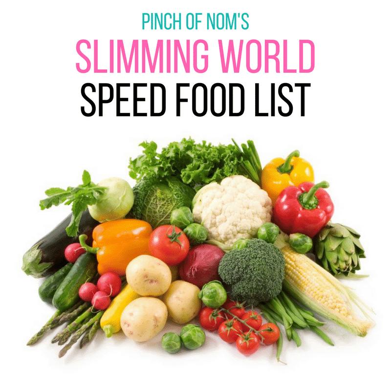 Speed food list - Slimming World Shopping Essentials