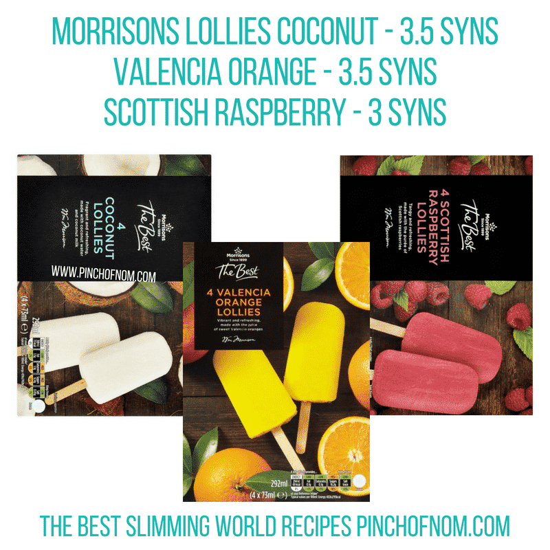 Morrisons The Best lollies - Pinch of Nom Slimming World Shopping Essentials
