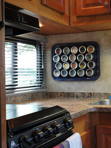 RV Storage Hacks - Magnetic Spice Rack