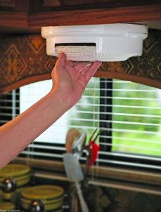 RV Storage Hacks - Paper Plate Dispenser