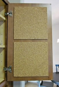 RV Storage Hacks - corkboard