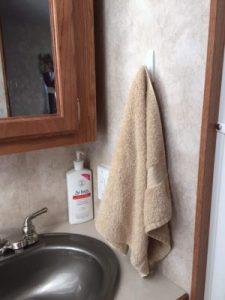RV Storage Hacks - Command Hook Towel Holder