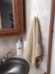 RV Storage Hacks - Command Hook Towel Holder