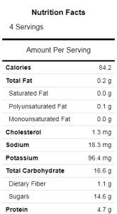 popsicles nutrition