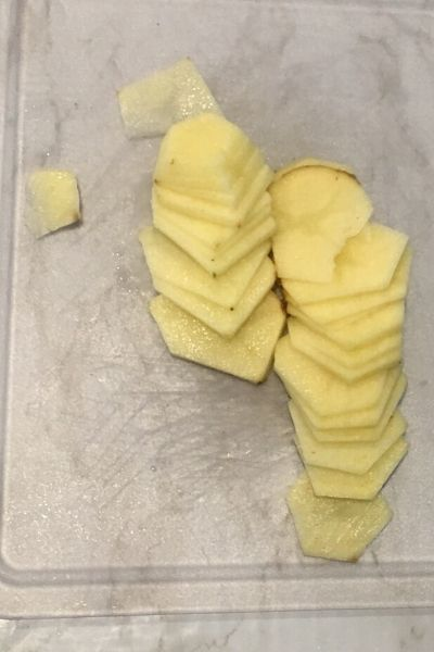how to cut a potato 1/8 in thick