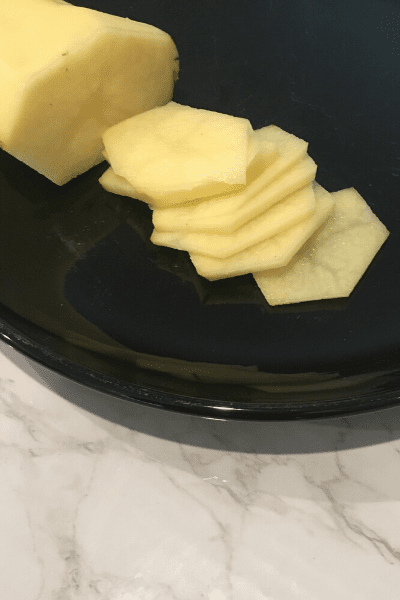 how to cut a potato 1/8 inch thick