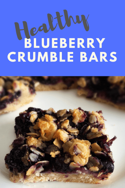 healthy blueberry crumble bars