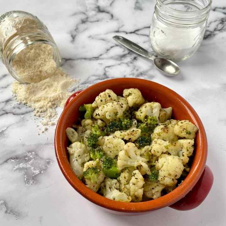 Sauteed broccoli and cauliflower