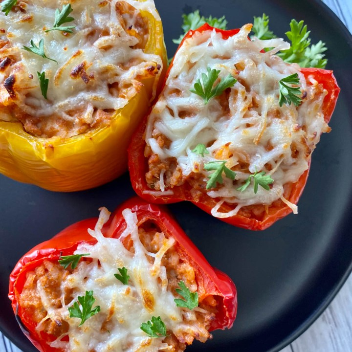 ground chicken stuffed peppers