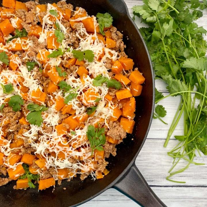 sweet potato and ground turkey skillet