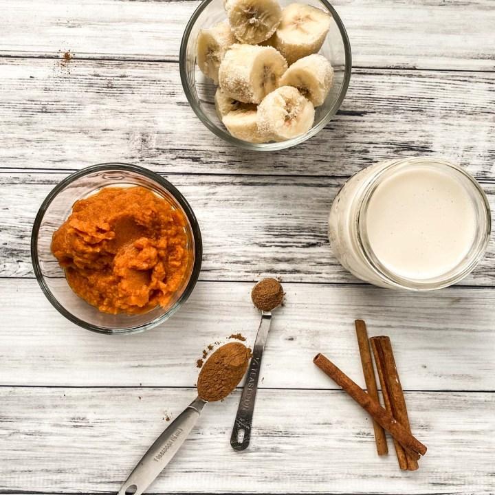 pumpkin pie smoothie ingredients