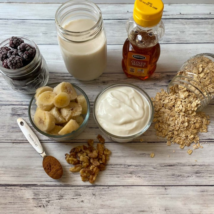 overnight oats with protein ingredients