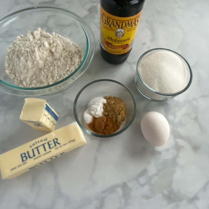 ingredients for Gluten Free Ginger Cookies