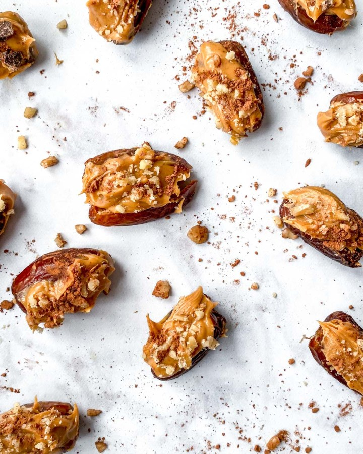 Peanut Butter Stuffed Dates