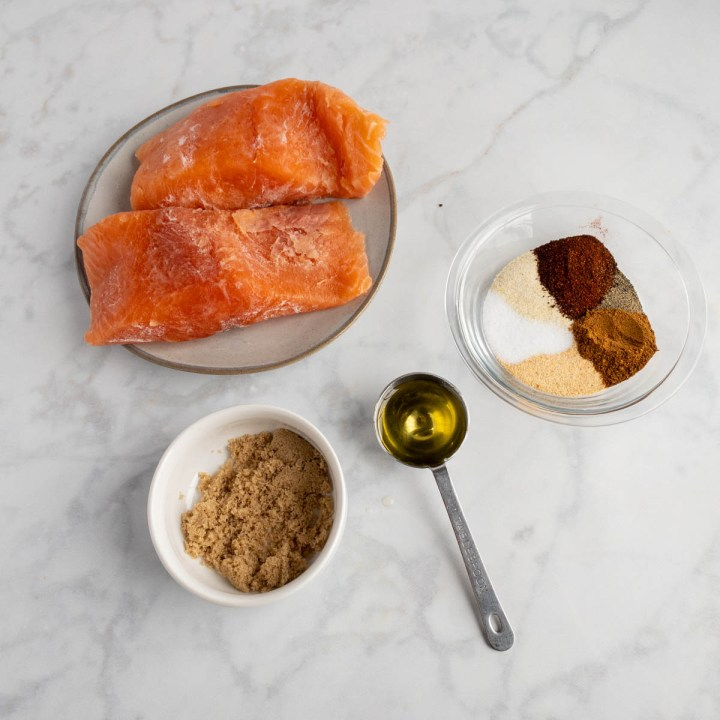 Frozen Salmon in Air Fryer Ingredients