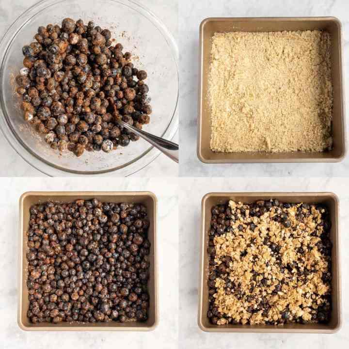 Gluten Free Blueberry Crumble