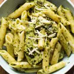 Avocado Chicken Pesto Pasta