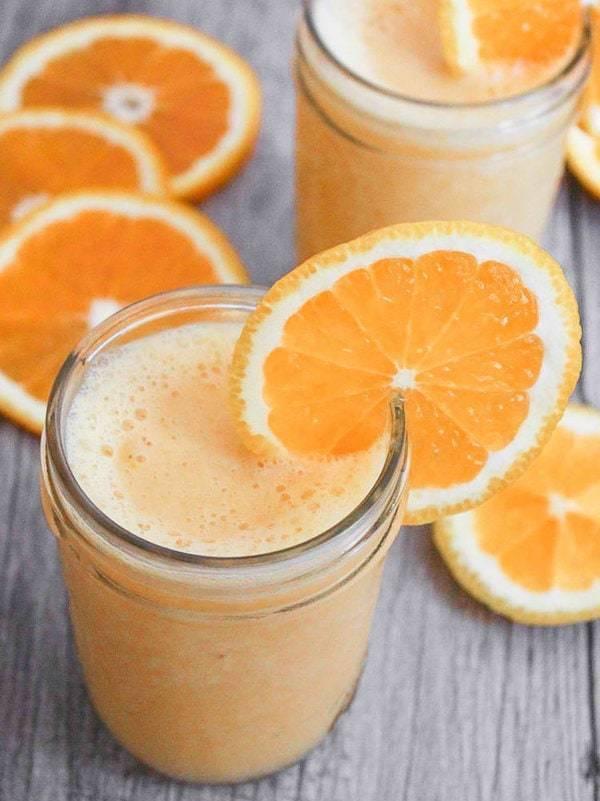 Orange smoothie.