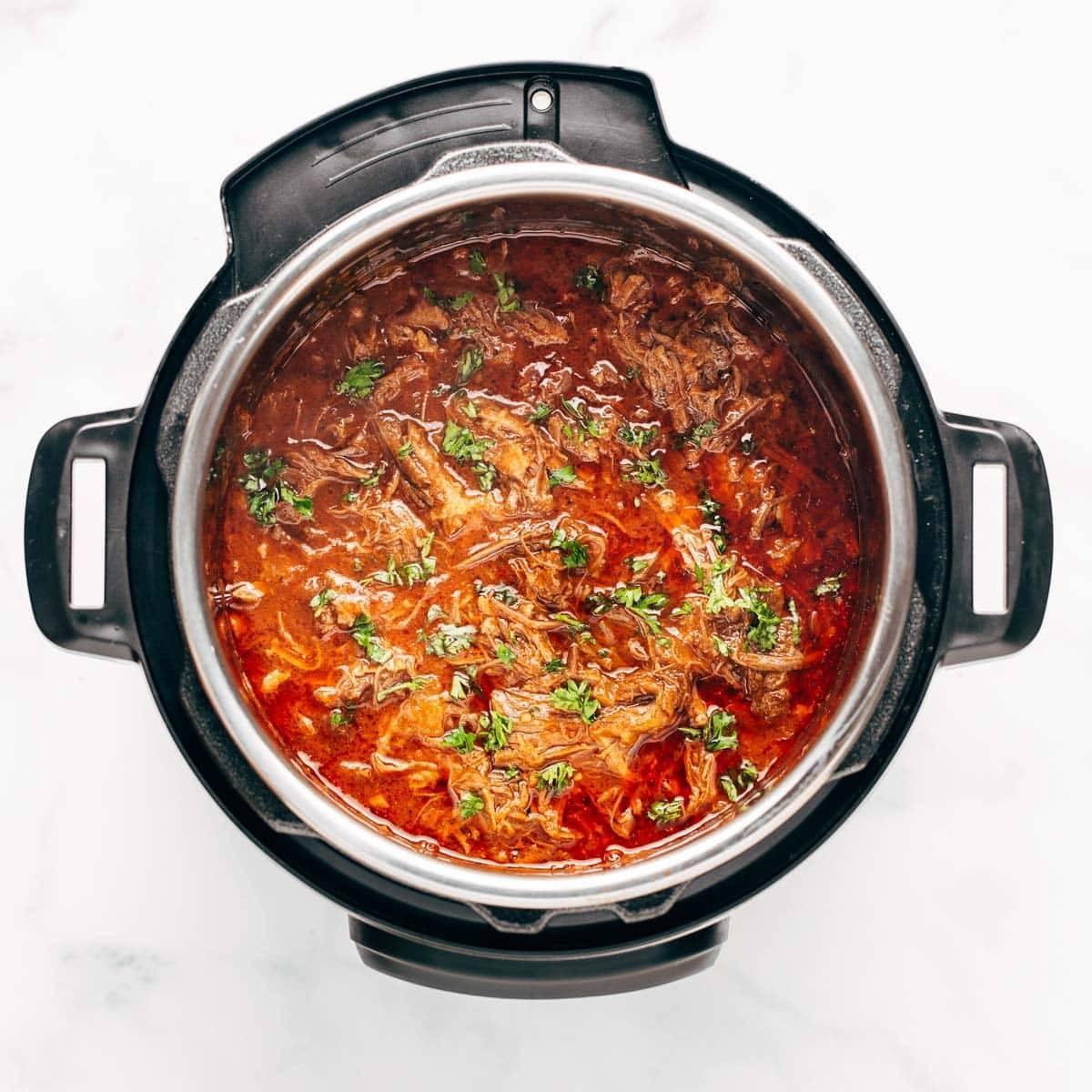 Beef ragu in the Instant Pot.