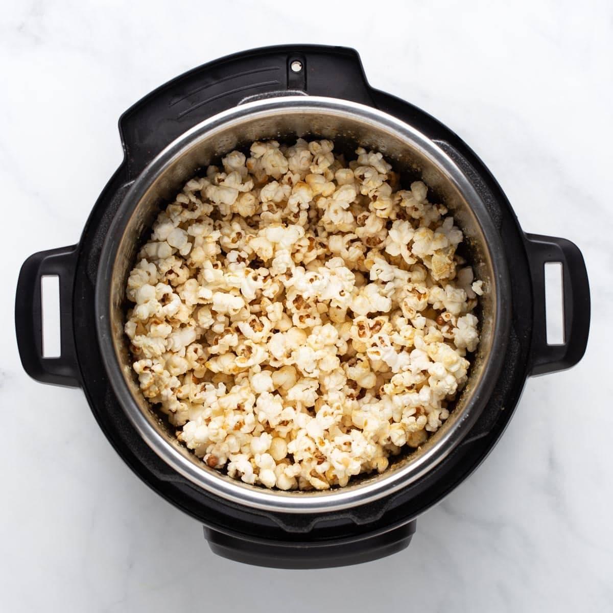 Popcorn in the Instant Pot.