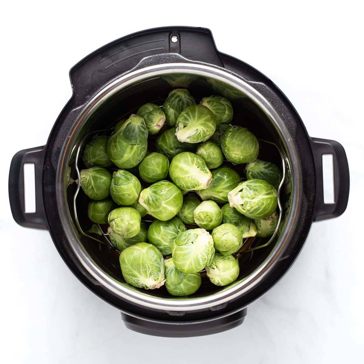 Brussels sprouts in the Instant Pot.