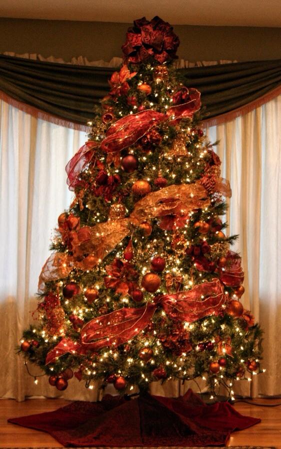 round christmas tree