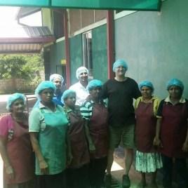 pinch at sri lanka spice processing factory