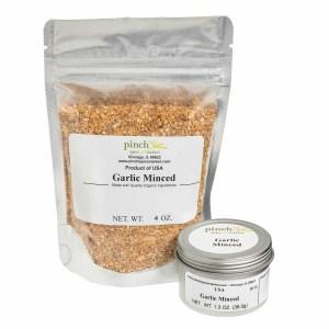 American garlic dried minced California organic