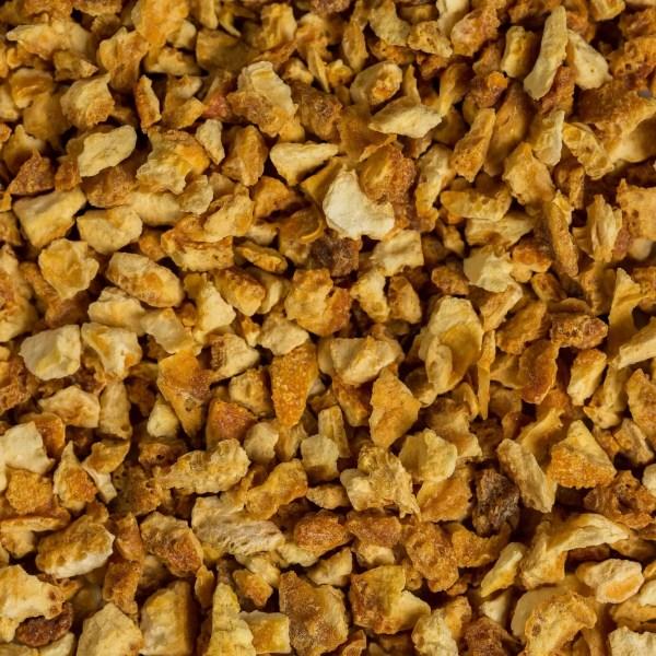 orange peel pieces dried