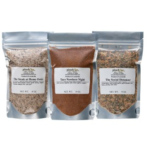 3 pack of spices for pandemic cooking and beyond