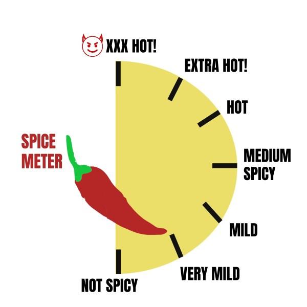 very mild spice