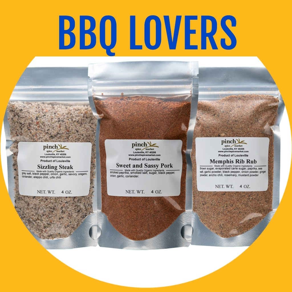 three bbq rubs and spices