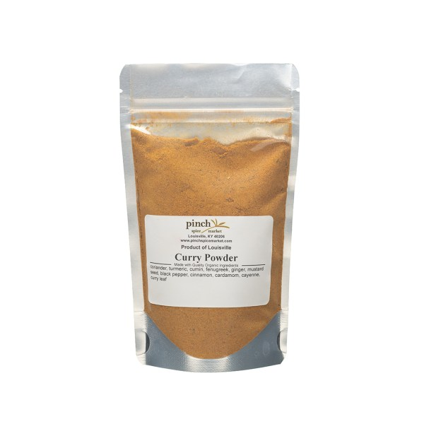 bag of certified organic curry powder fair trade